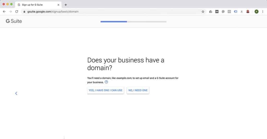G Suite Domain