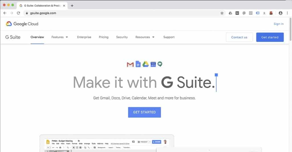Getting started with G Suite